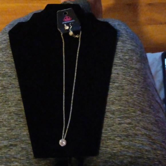 Paparazzi 2 pc white zirconia necklace set